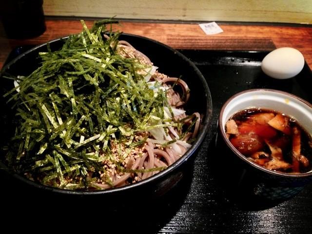 ラー油蕎麦