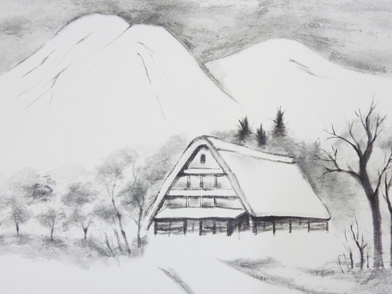 雪国の蕎麦屋