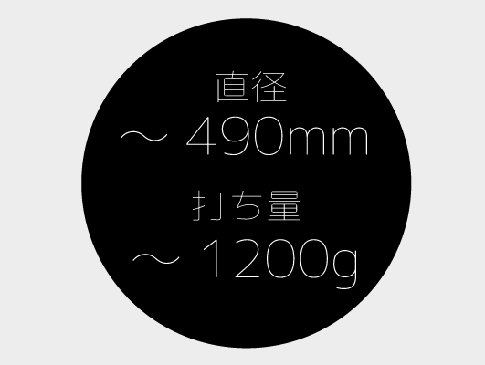 こね鉢~490mm