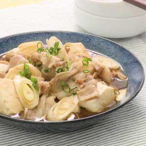 豚バラと豆腐煮